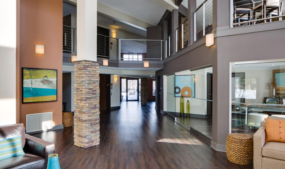 Clubhouse Hall at Avana on Seven Apartments in St Louis Park, MN