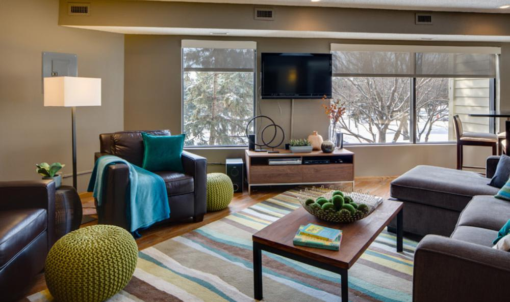 Clubhouse Meeting Area at Avana on Seven Apartments in St Louis Park, MN
