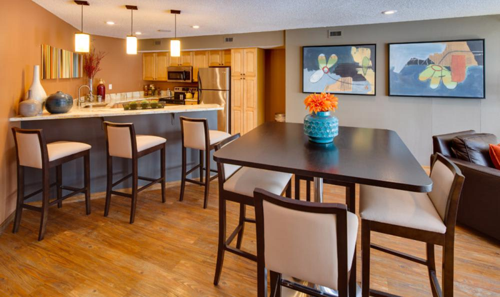 Dining Room at Avana on Seven Apartments in St Louis Park, MN