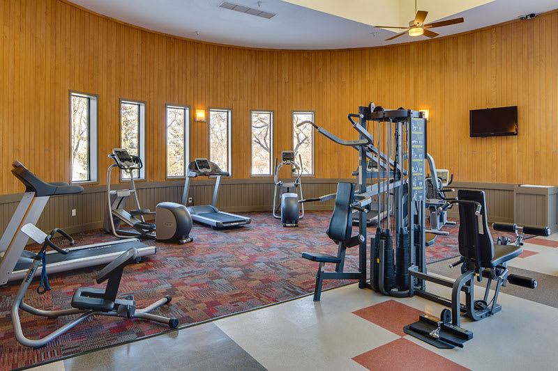 Fitness center at Avana on Seven Apartments