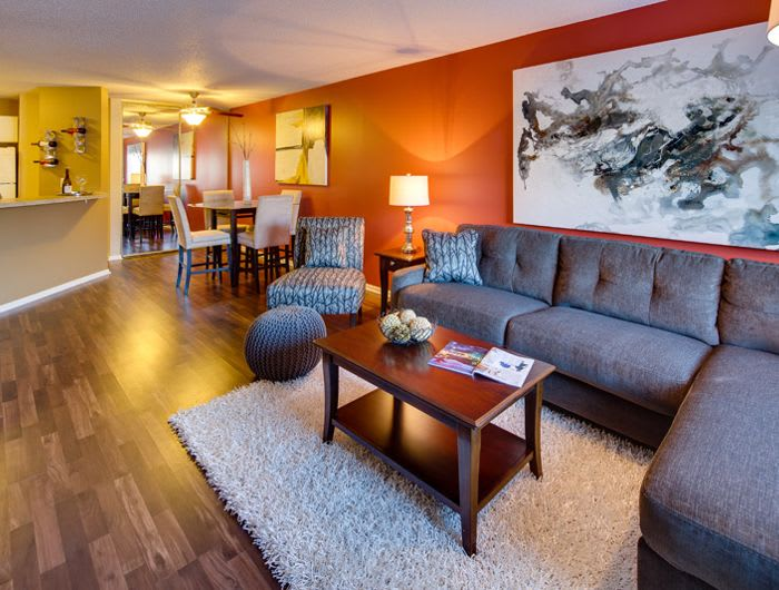 Living room at Avana on Seven Apartments in St Louis Park