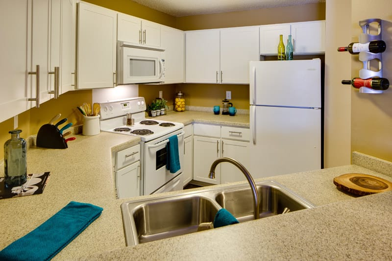 Kitchen at Avana on Seven Apartments