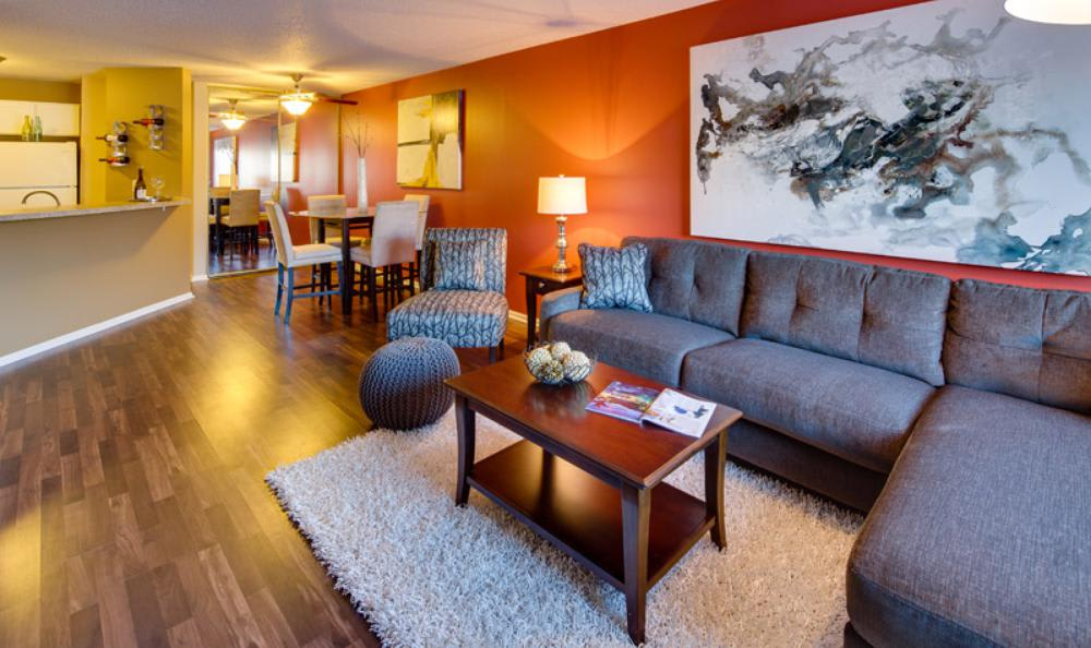 Living Room at Avana on Seven Apartments in St Louis Park, MN