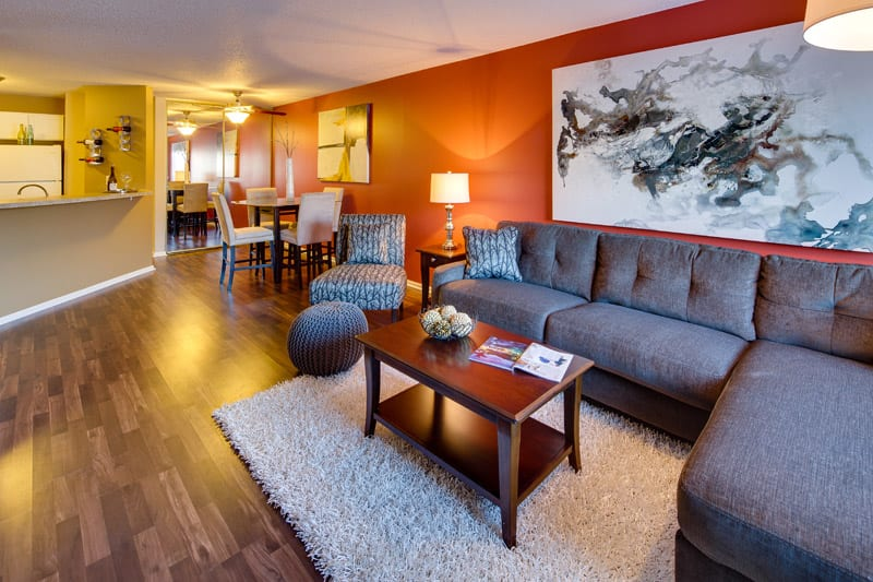 Living room at Avana on Seven Apartments