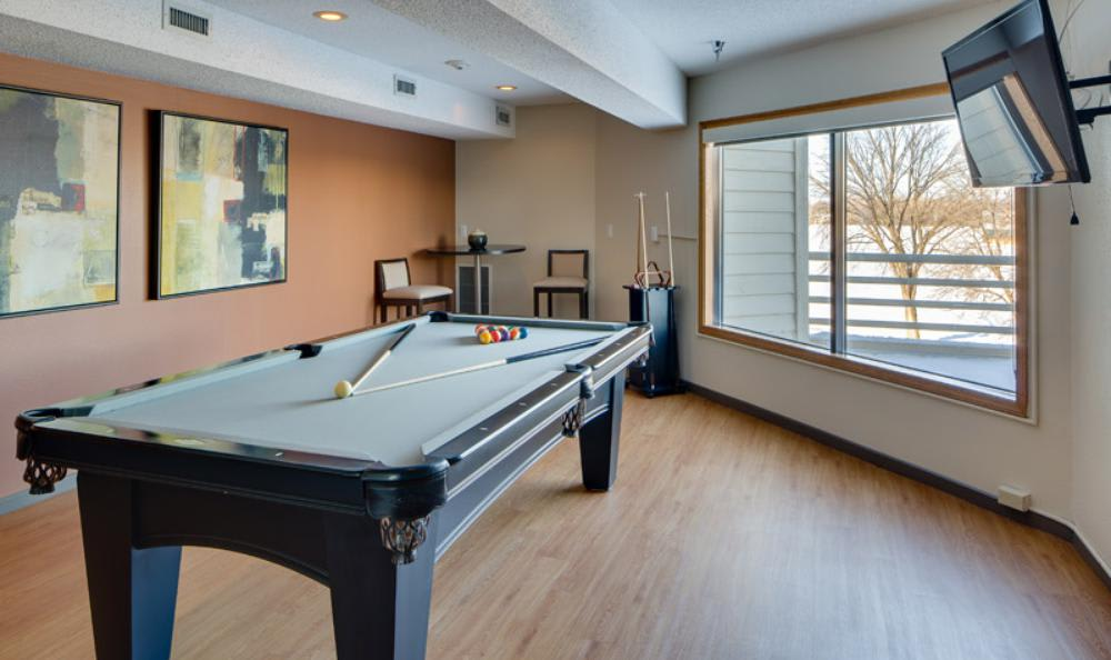 Pool Table at Avana on Seven Apartments in St Louis Park, MN