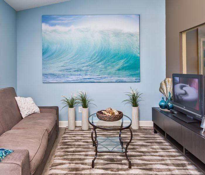 Living room at Arbors at Orange Park