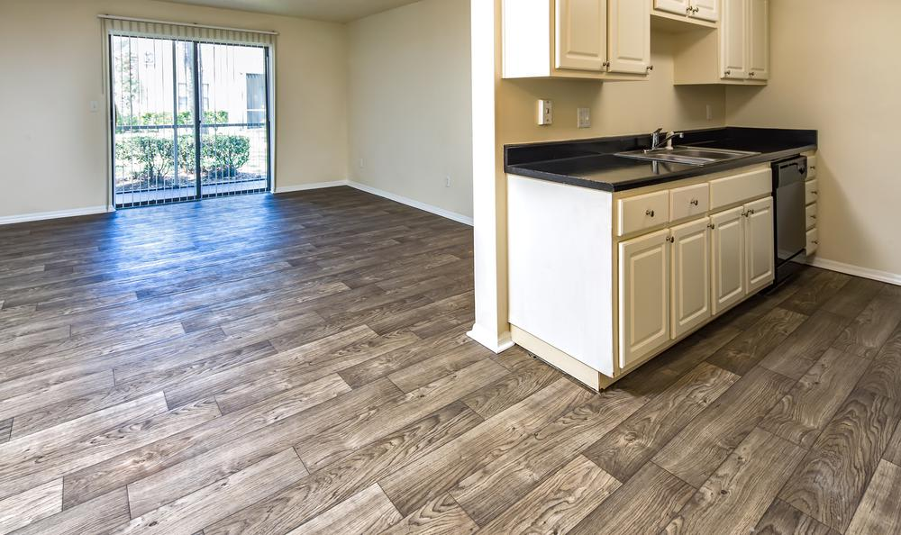 Empty Living Kitchen Room Combo at Arbors at Orange Park in Orange Park, FL