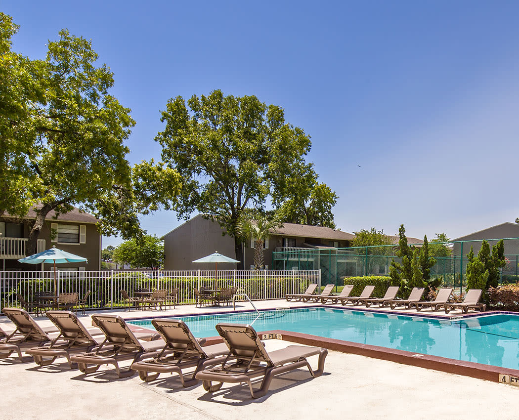 Pool deck at Arbors at Orange Park