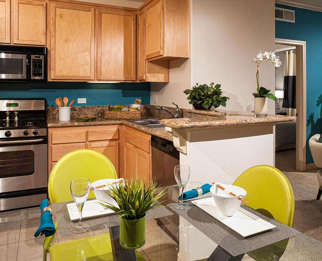 Fully Equipped kitchen at Avana North Hollywood Apartments in North Hollywood