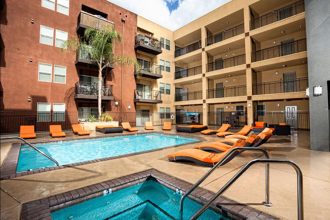 swimming pool at Avana North Hollywood Apartments in North Hollywood