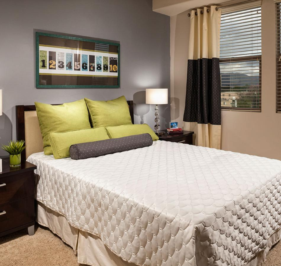 well decorated Bedroom at Avana North Hollywood Apartments in North Hollywood
