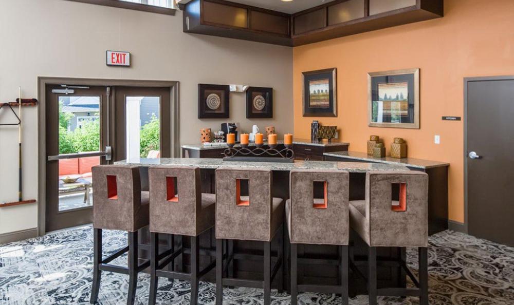 Clubhouse Dining Area at Avana Abington Apartments in Abington, MA