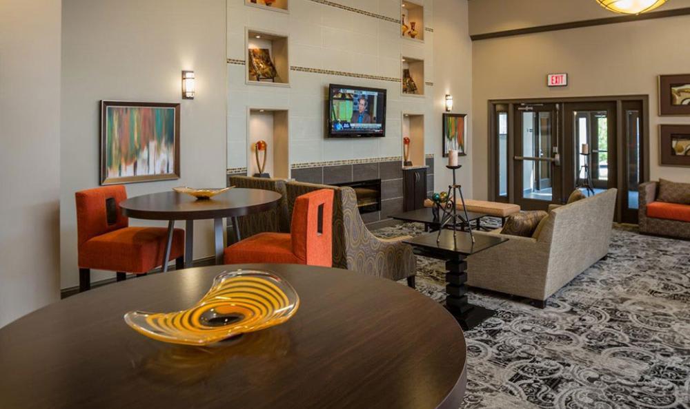 Clubhouse Living Room at Avana Abington Apartments in Abington, MA