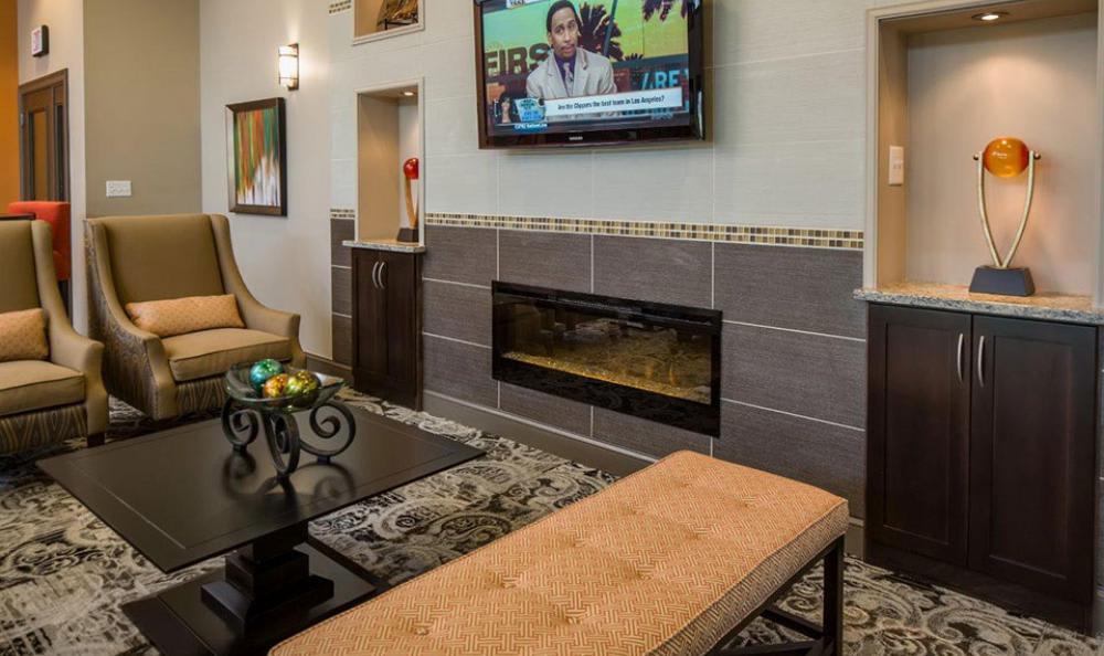 Clubhouse Tv Area at Avana Abington Apartments in Abington, MA