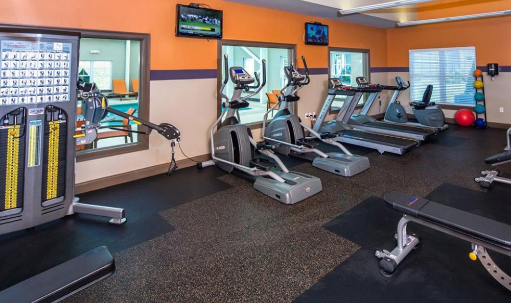 Exercise facility at Avana Abington Apartments in Abington, MA
