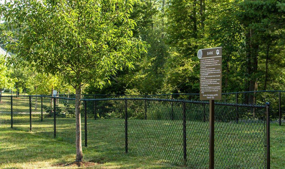Fenced forest at Avana Abington Apartments in Abington, MA