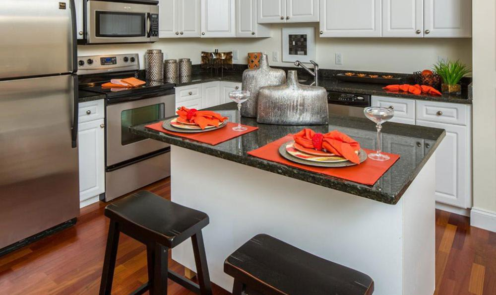 Fully Equipped Kitchen Room at Avana Abington Apartments in Abington, MA