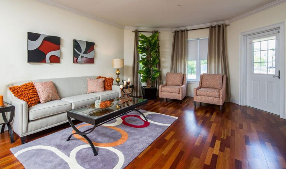 Well Decorated Living Room at Avana Abington Apartments in Abington, MA