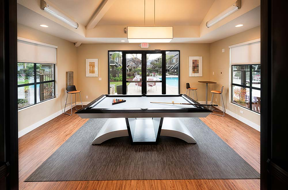 Pool table at Avana Skyway Apartments in San Jose, CA