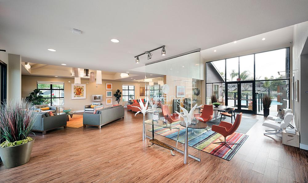 Clubhouse Living Room at Avana Skyway Apartments in San Jose, CA