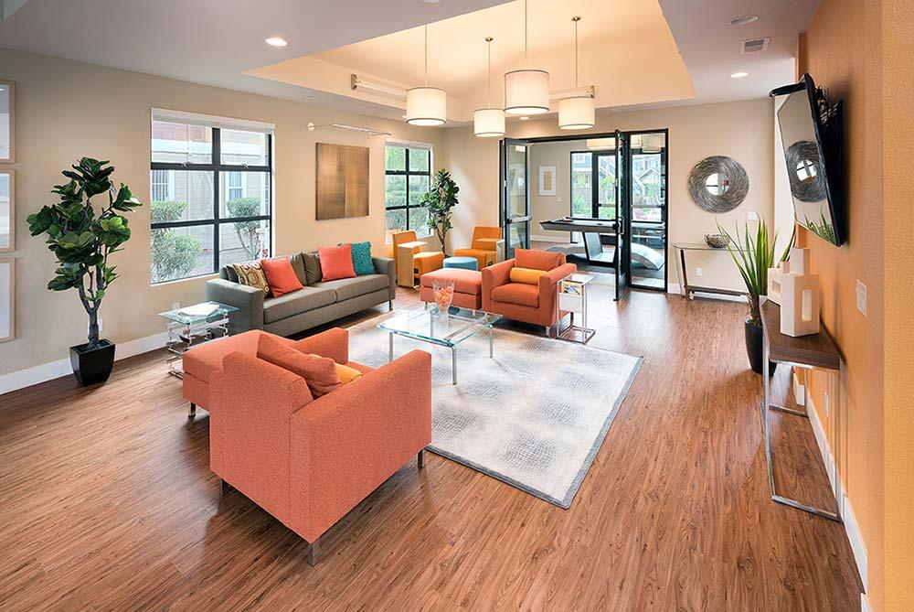 Tv Room at Avana Skyway Apartments in San Jose, CA