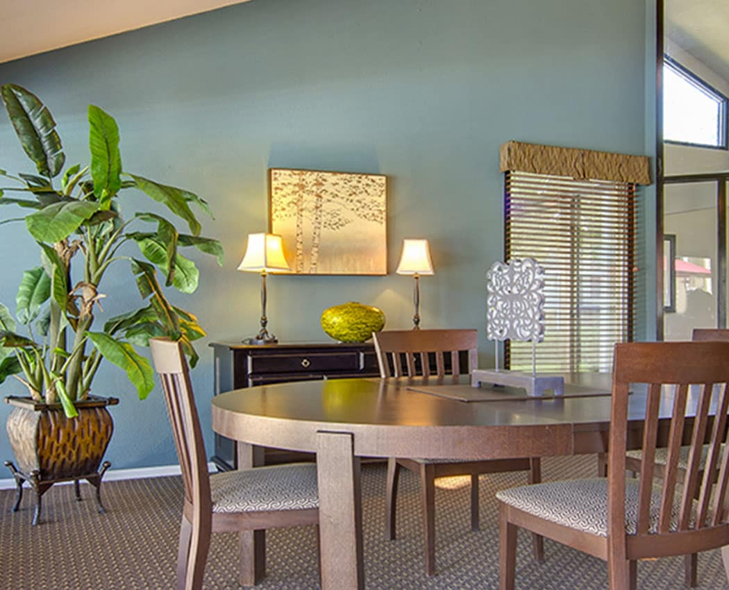 Dining room at Deerfield Apartments in Denver, CO