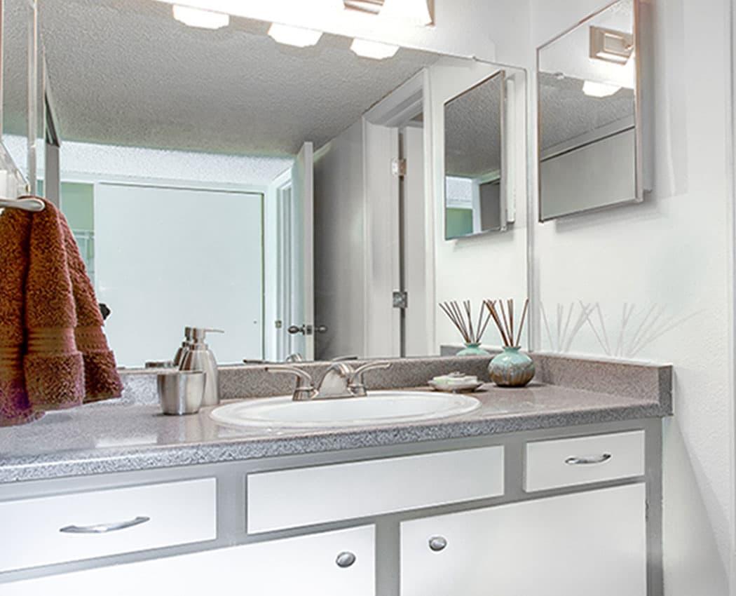 Spacious Bathroom at Deerfield Apartments in Denver, CO