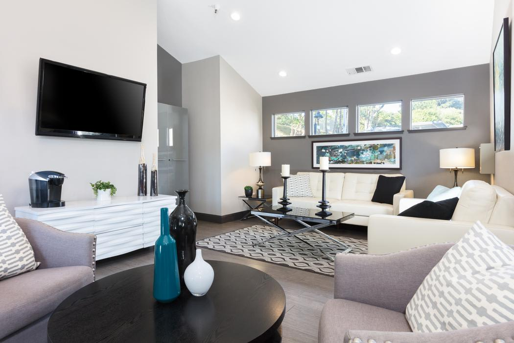 Living room at Skyline Heights Apartments in Daly City