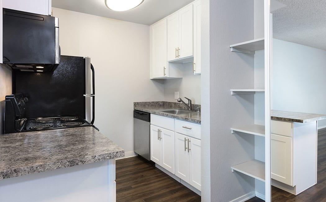 Kitchen at Skyline Heights Apartments