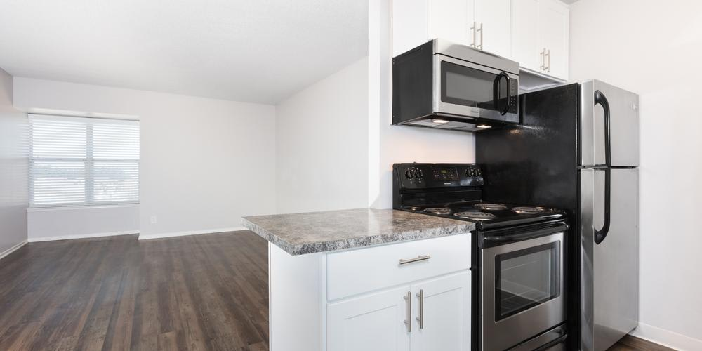 Kitchen And Living Room at Skyline Heights Apartments in Daly City, CA
