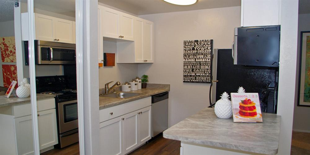 Spacious Kitchen at Skyline Heights Apartments in Daly City, CA