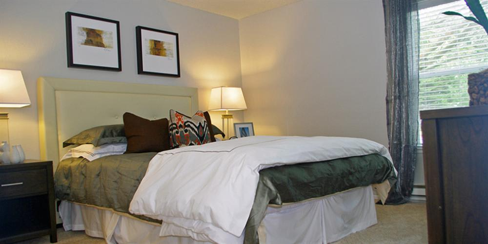 Well Decorated Bedroom at Skyline Heights Apartments in Daly City, CA