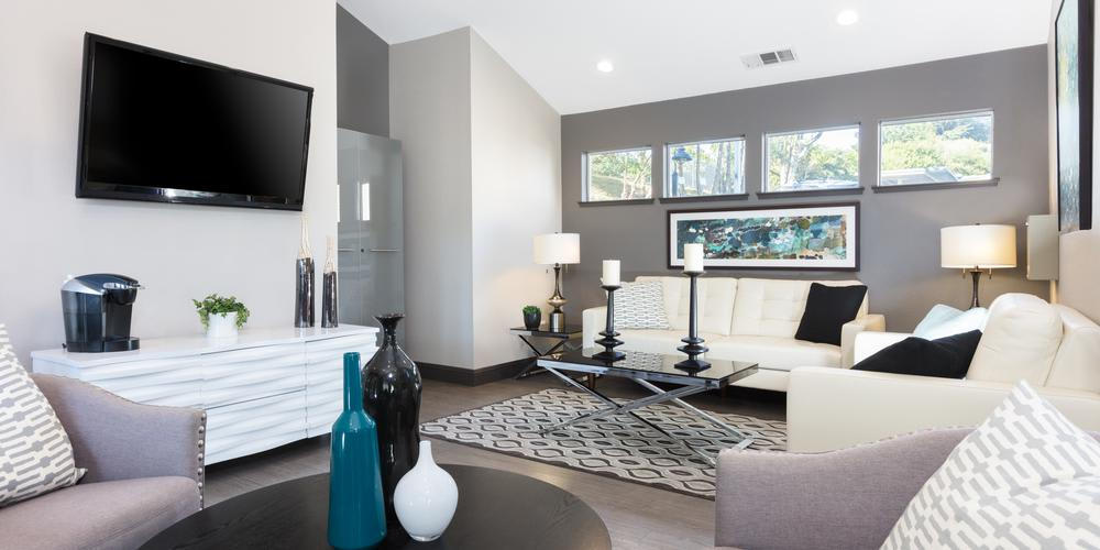 Well Design Living Room at Skyline Heights Apartments in Daly City, CA