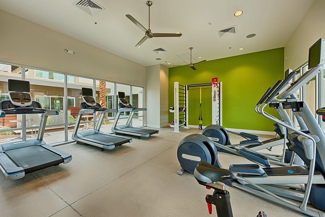 Fitness center at Avana McCormick Ranch Apartments