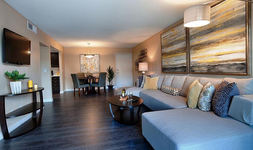 Living room at  Avana McCormick Ranch Apartments in Scottsdale, AZ