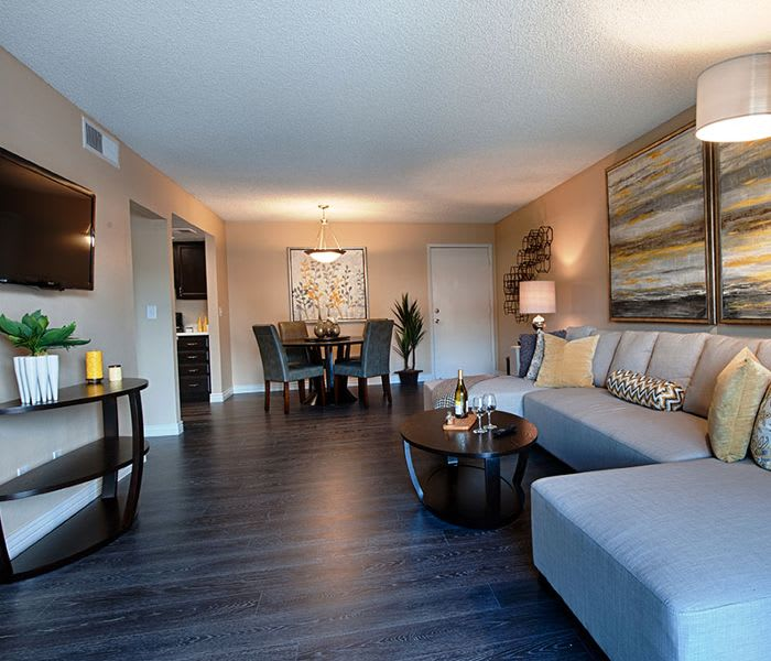 Living room at Avana McCormick Ranch Apartments in Scottsdale