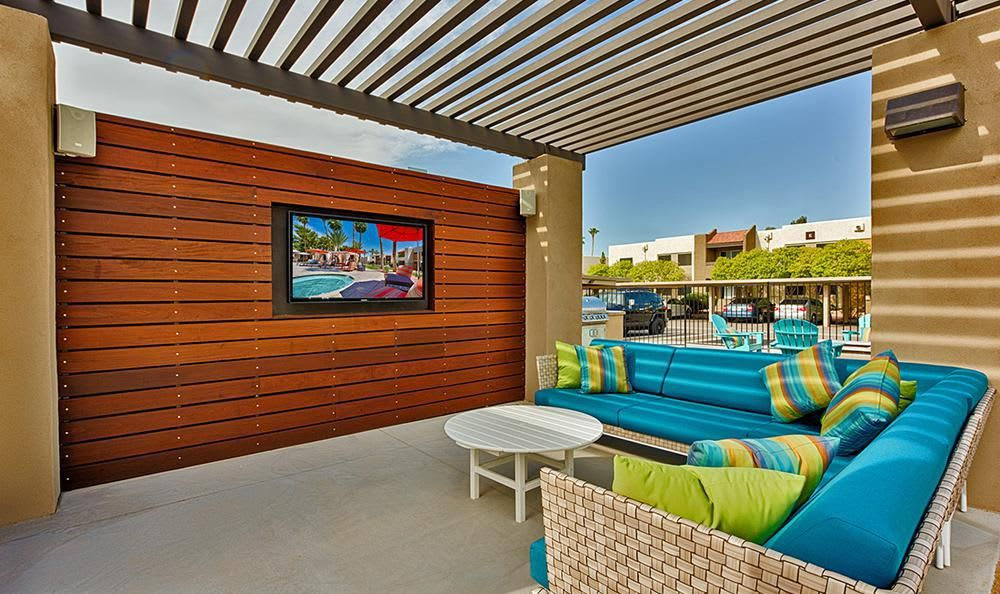 Outdoors TV Area at Avana McCormick Ranch Apartments in Scottsdale, AZ