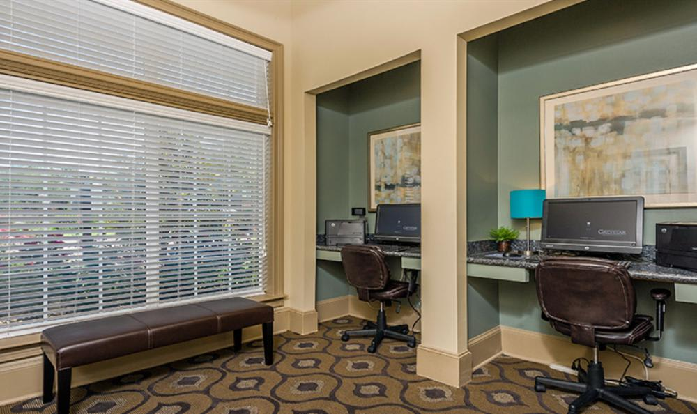 Business Center at Avana Cypress Estates Apartments in Houston, TX