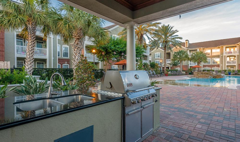 Grilling Area at Avana Cypress Estates Apartments in Houston, TX
