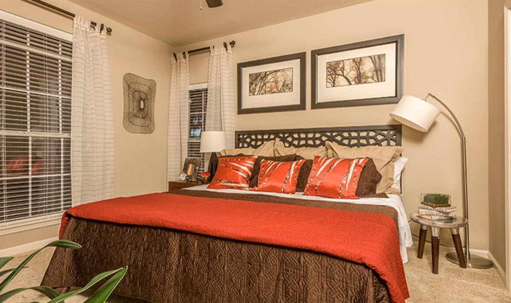 Well Decorated Bedroom at Avana Cypress Estates Apartments in Houston, TX