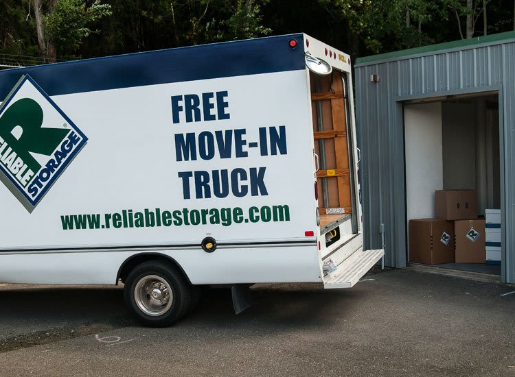 Moving truck at storage in Poulsbo