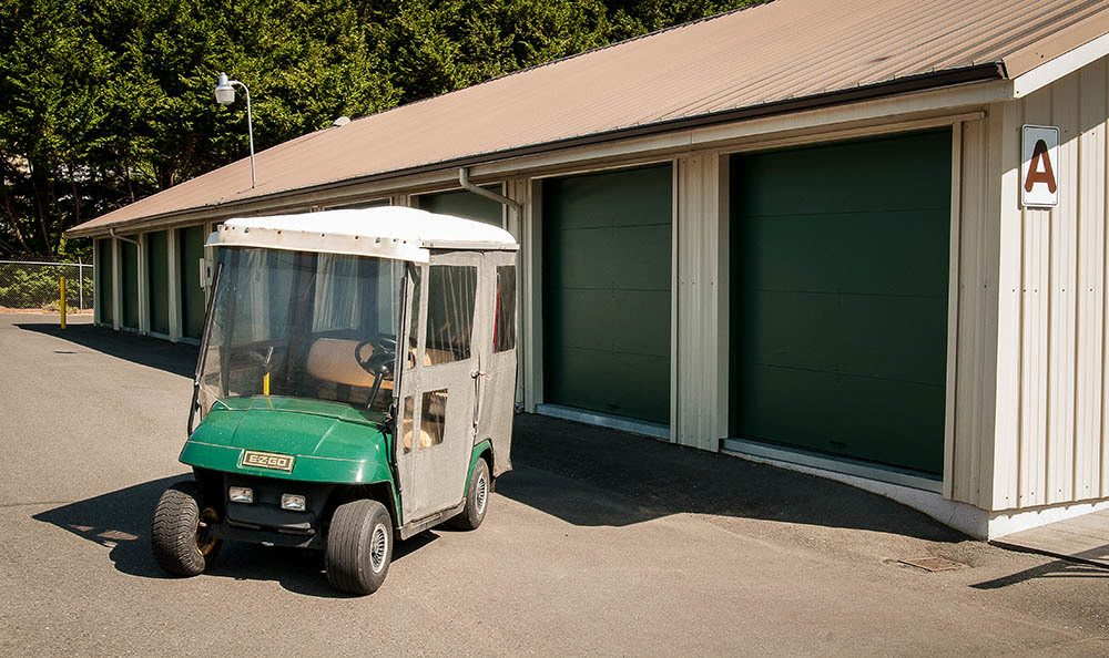 Golf Cart At Our Bainbridge Island Storage Facility