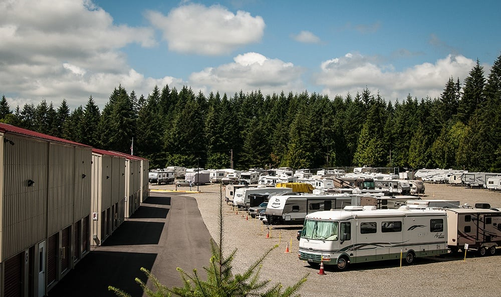 Overhead View Storage In Port Orchard