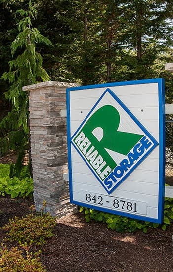 Entrance sign at one of our Reliable Storage locations