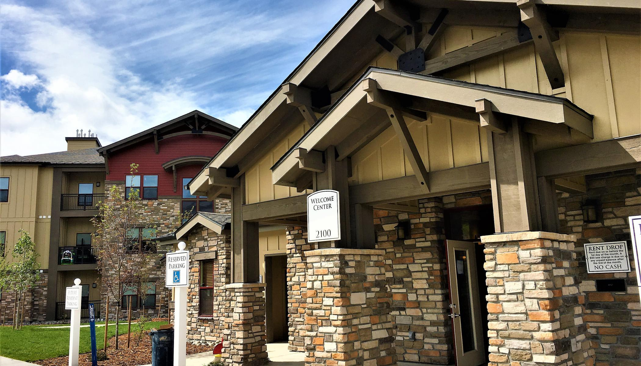 Exterior view of our apartments at The Reserves at Steamboat Springs, Steamboat Springs