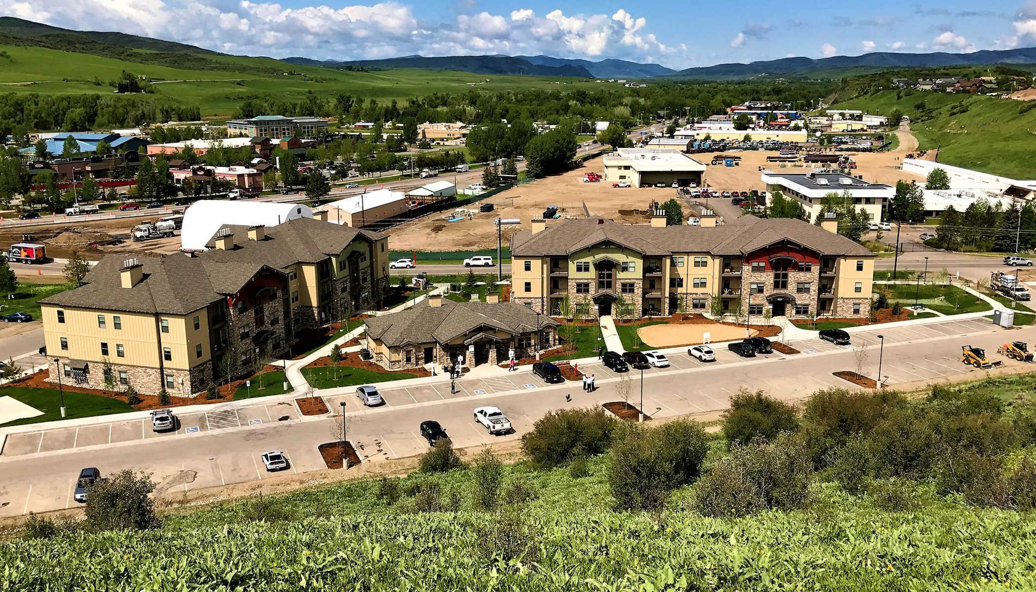 Aerial view of our neighborhood at The Reserves at Steamboat Springs in Steamboat Springs, CO