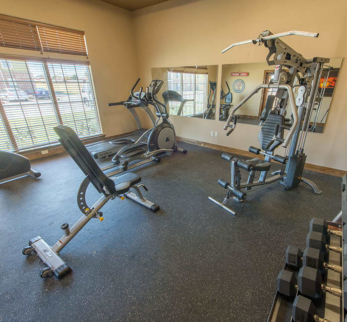 Fitness center at The Reserves at South Plains