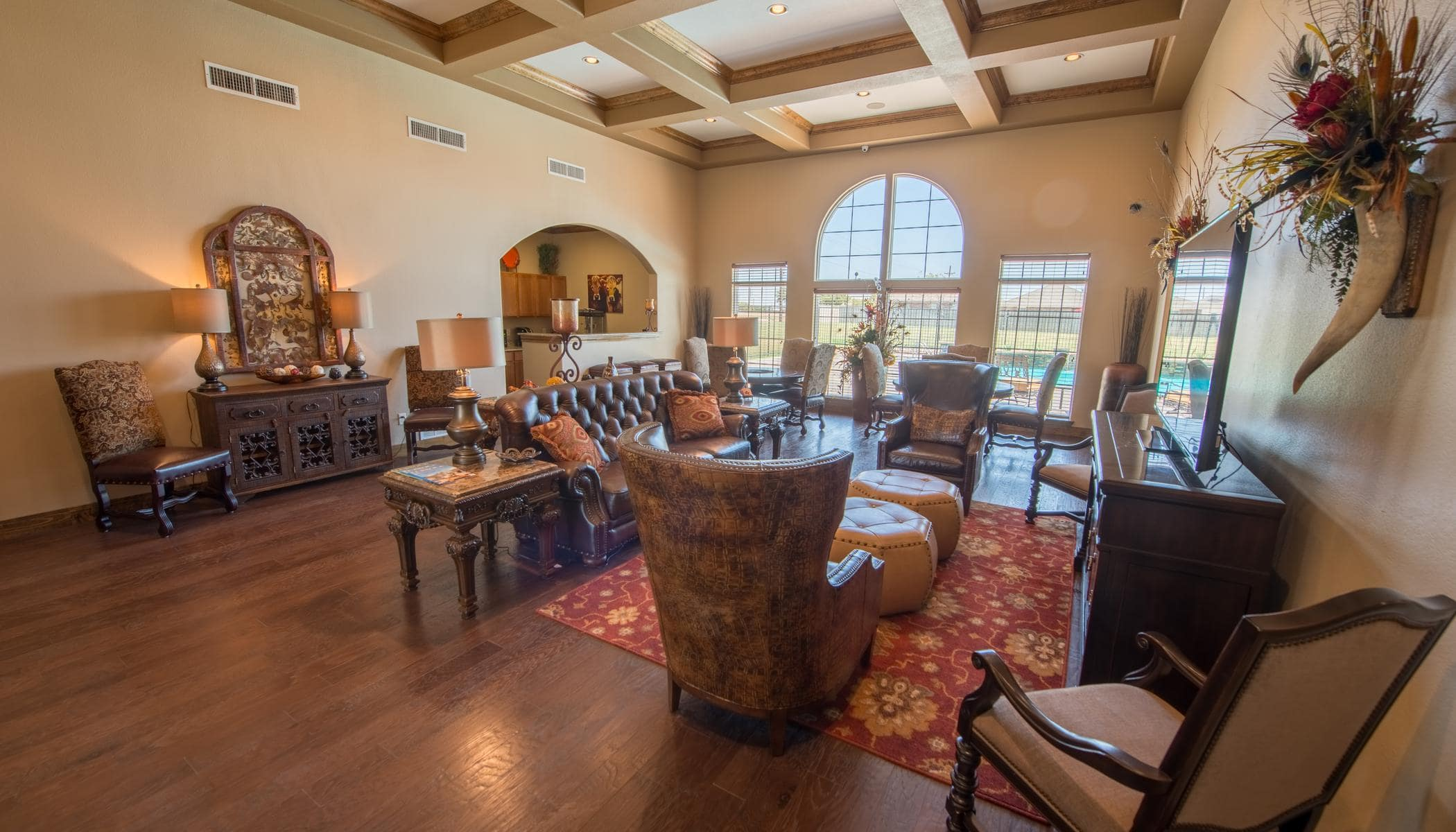 Beautiful living room at The Reserves at South Plains in Lubbock, Texas