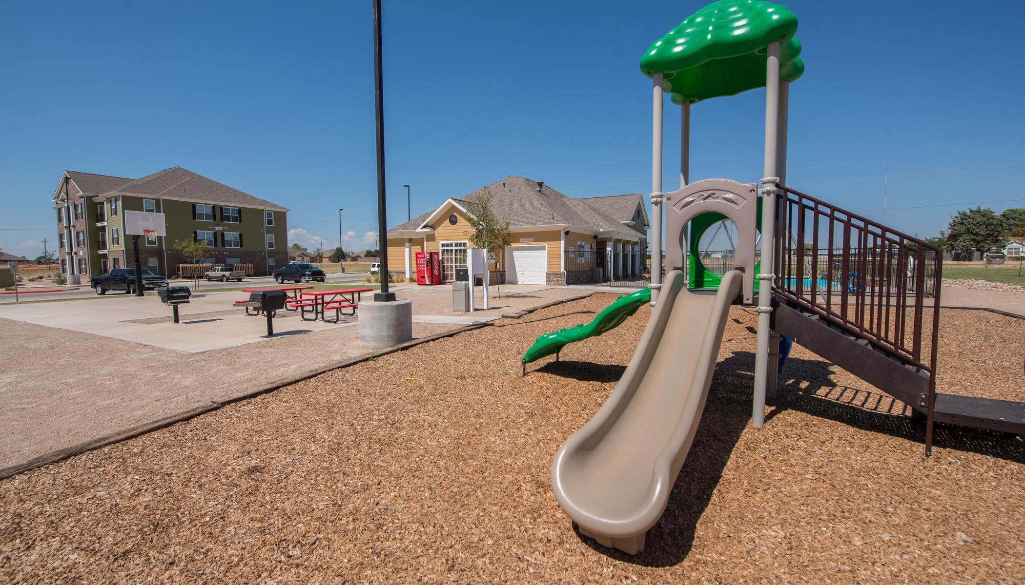 Children play area at Lubbock, Texas