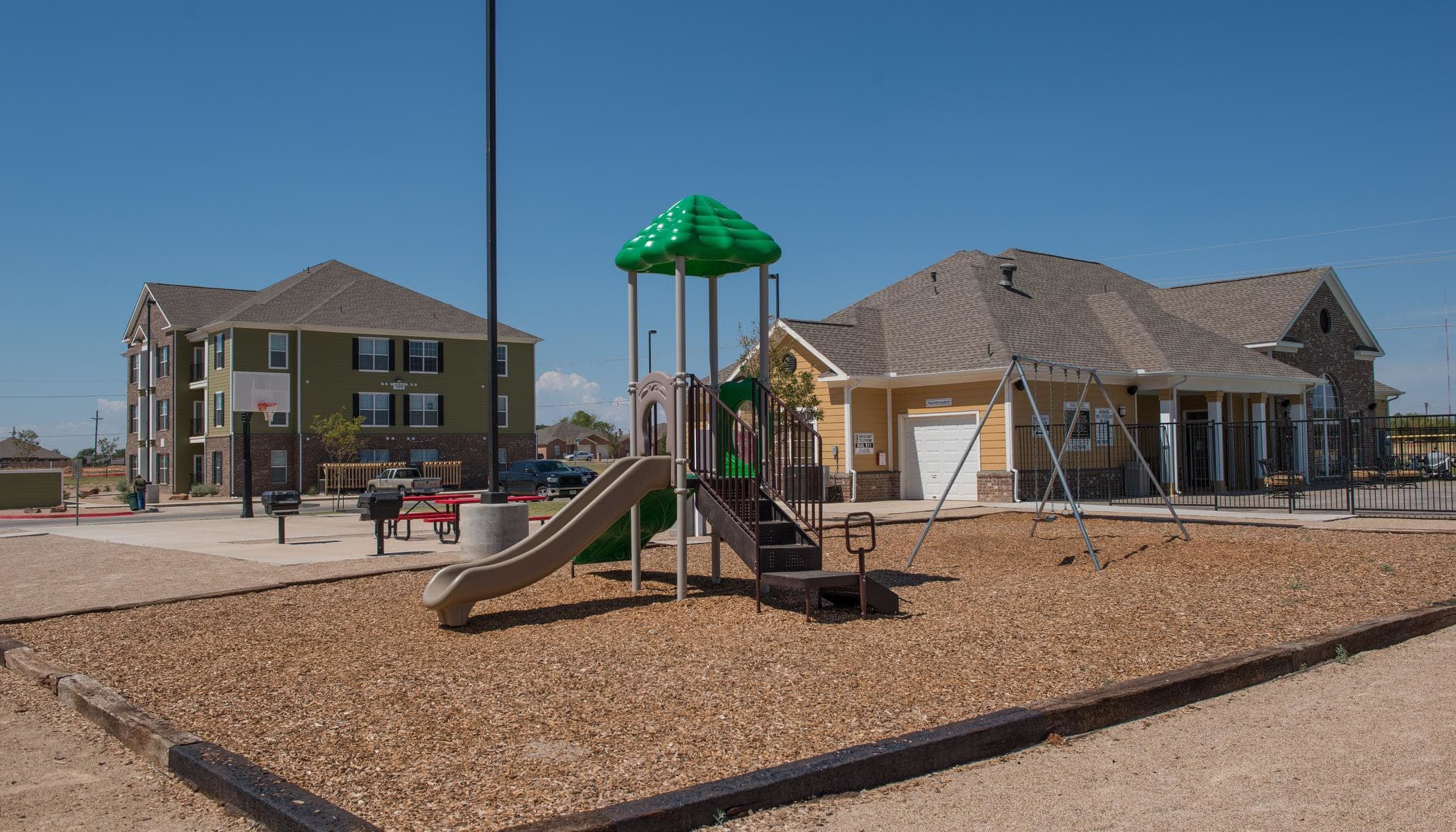 Children play area at The Reserves at South Plains in Lubbock, Texas